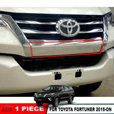 15-16 17 Toyota Fortuner SUV Front Chrome Bumper Guard Cover Trim ...