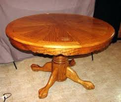antique oak claw foot pedestal table claw foot oak table antique round oak clawfoot dining table
