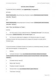 standard investment contract non disclosure agreement nda templates downloads eloquens