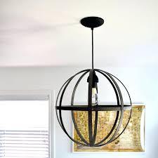 orb light chandelier pendant orb light brushed nickel crystal orb 6 light chandelier
