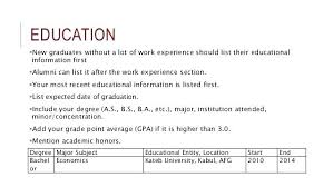 Education Section Of Resumes Education Section Of Resume Educational Background In Famous On R