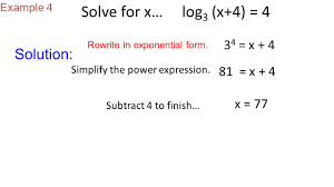 example 4 solution rewrite in exponential form