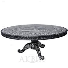 dt701 round inlaid table