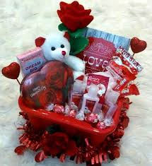 women s valentine s gift basket cherry blossom spa lindt chocolates rose bear