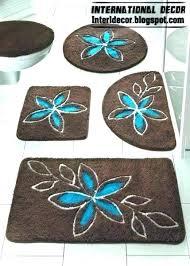 aqua bathroom rugs blue and brown bathroom rugs carpet with turquoise flower baths rug dark b aqua bathroom rugs