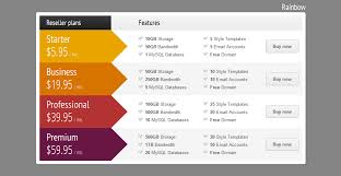 web table design.  Web CSS3 Vertical Web Pricing Tables For WordPress In Table Design R