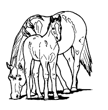Small Picture How to Color animal coloring page of horse to print Grootfeestinfo