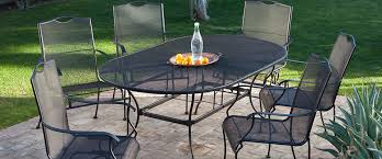 black wrought iron patio dining set