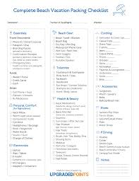 Vacation Checklist The Ultimate Beach Packing Checklist Lots Of Tips Printable