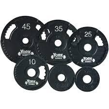 YORK G-2 Dual Grip Cast Iron Weight Plates 255 lb. Plate Set