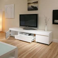 Tv Stereo Stands Cabinets Furniture Simple White Wall Color Wooden Floor Black Wooden