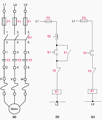 basic control circuit for dol direct on line starter