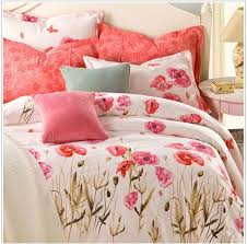 100 cotton bed sheets. Plain Sheets 100 Cotton Bedding Set Chic Floral Bed Linen Duvet Cover To Sheets Trappaninfo
