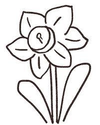水仙のイラスト花 ゆるかわいい無料イラスト素材集
