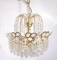 Lüster Alte Lampe Kronleuchter 22 Kristall Antik