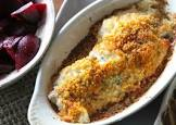 baked haddock with crumb topping