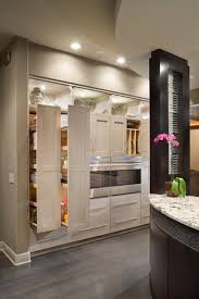 White Contemporary Kitchen Pantry Storage Design
