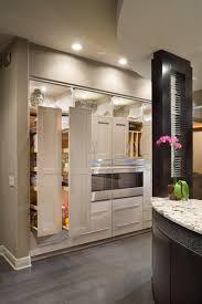 white contemporary kitchen pantry storage design