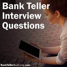 bank teller interview questions archives
