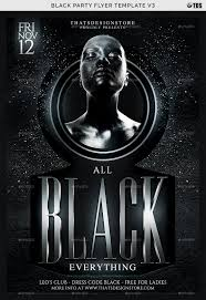 Black Party Flyer Template V3