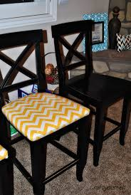 fabric over stapled reupholster kitchen chair kitchen idea best