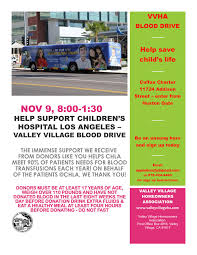 children hospital flyers november 9th childrens hospital los angeles valley village blood