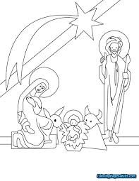 Nativity Coloring Pages For Preschool Free Printable Coloring Pages