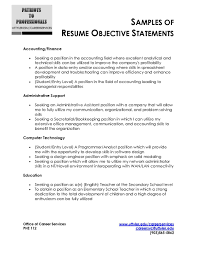 Free Example Of A Resume Resume Objective Examples General Accountant Fresh Accounting 68