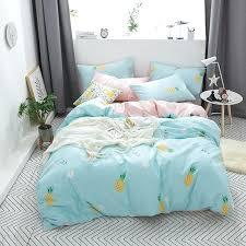 linen duvet cover modern modern style bedding set cute little pineapple print cotton queen twin size