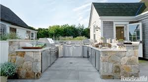 backyard kitchen design. the u-shaped layout of a nantucket kitchen is zoned from hot to cold, backyard design