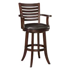 leather bar stools with arms. Full Size Of Brown Wooden Bar Stool With Ladder Back Having Black Leather Seat As Well Stools Arms
