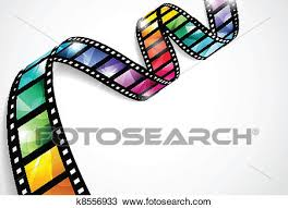 Film Strips Pictures Clipart Of Colorful Film Strips K8556933 Search Clip Art