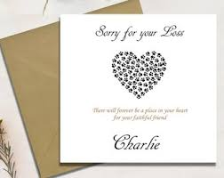 Card For Loss Of Pet Pet Sympathy Card Etsy