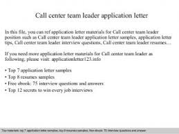 interview questions team leader useful sample resume team leader call center with lead resume