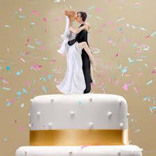 Synthetic Resin Wedding Cake Topper Bride Groom Hug And Kiss