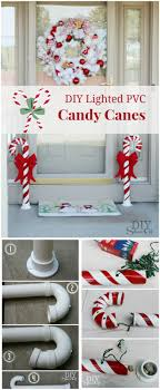 candy canes made from pvc pipe 21 diy outdoor decorations