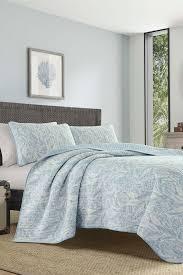 image of tommy bahama batik paisley quilt sham set blue