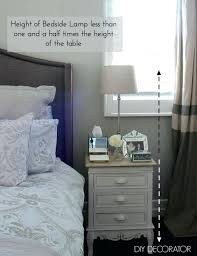 outstanding how tall should bedside lamp be a table medium size of what i the right height decorator with regard to bedroom your my