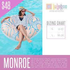 Lularoe Monroe Size Chart Lularoe Monroe Sizing Guide And Price In 2019 Lularoe