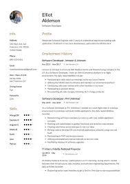 Job Application Letter For Software Engineer With Modern Resume Guide Software Developer Resume 12 Samples Word Pdf