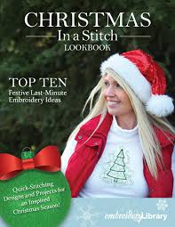 Embroidery Library Christmas Designs Embroidery Library Christmas In A Stitch Lookbook By