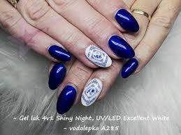 Vodolepkyobtisky A285 Modré Kytky Ornament Bordura