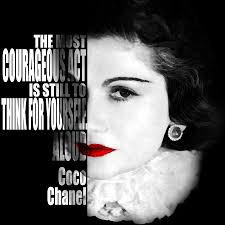 Coco Chanel Motivational Inspirational Independent Quotes By Diana Van