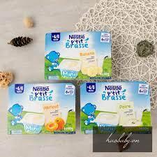 Đồ ăn dặm cho bé] Sữa chua/ váng sữa nguội Nestle ăn dặm vị tự nhiên,  chuối, mơ, lê cho bé 4m-6m-9m tốt giá rẻ