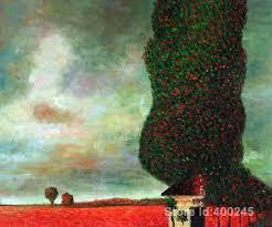 Opere d'arte di Gustav Klimt Alta Pioppo arte dipinti riproduzione a mano  di Alta Qualità|artwork flowers|paintingpainting heroes - AliExpress