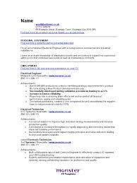Cv Template Electrical Engineer Docshare Tips