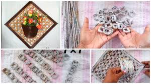 how to make newspaper s wall hanging with flower vase step by step ideas