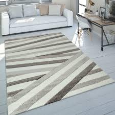 Modernes bett schwartz möbel schlafzimmer. Teppich Abstraktes Streifen Design Braun Beige Mirai Trading Gmbh