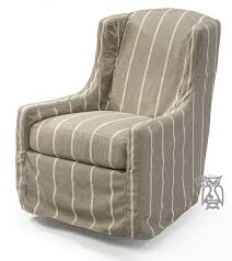 swivel and rocking chairs. Custom Built Glider Swivel Rocking Chair With Slipcover And Chairs K