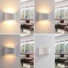 <b>Elegant LED wall light</b> Heiko made from plaster | Lights.ie